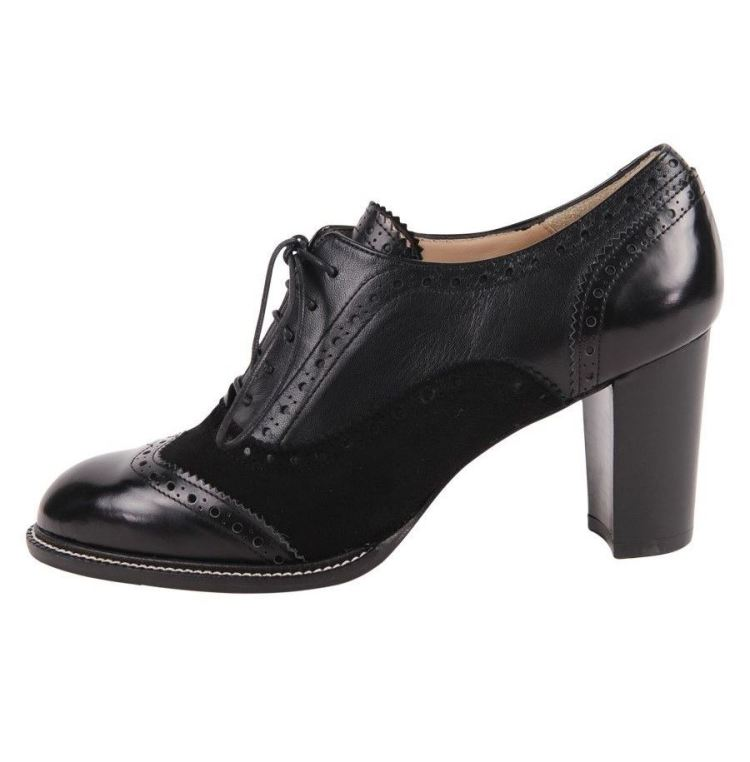 Block Heel Oxford Pump