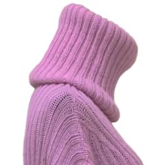 Pink Wool Turtleneck Dress