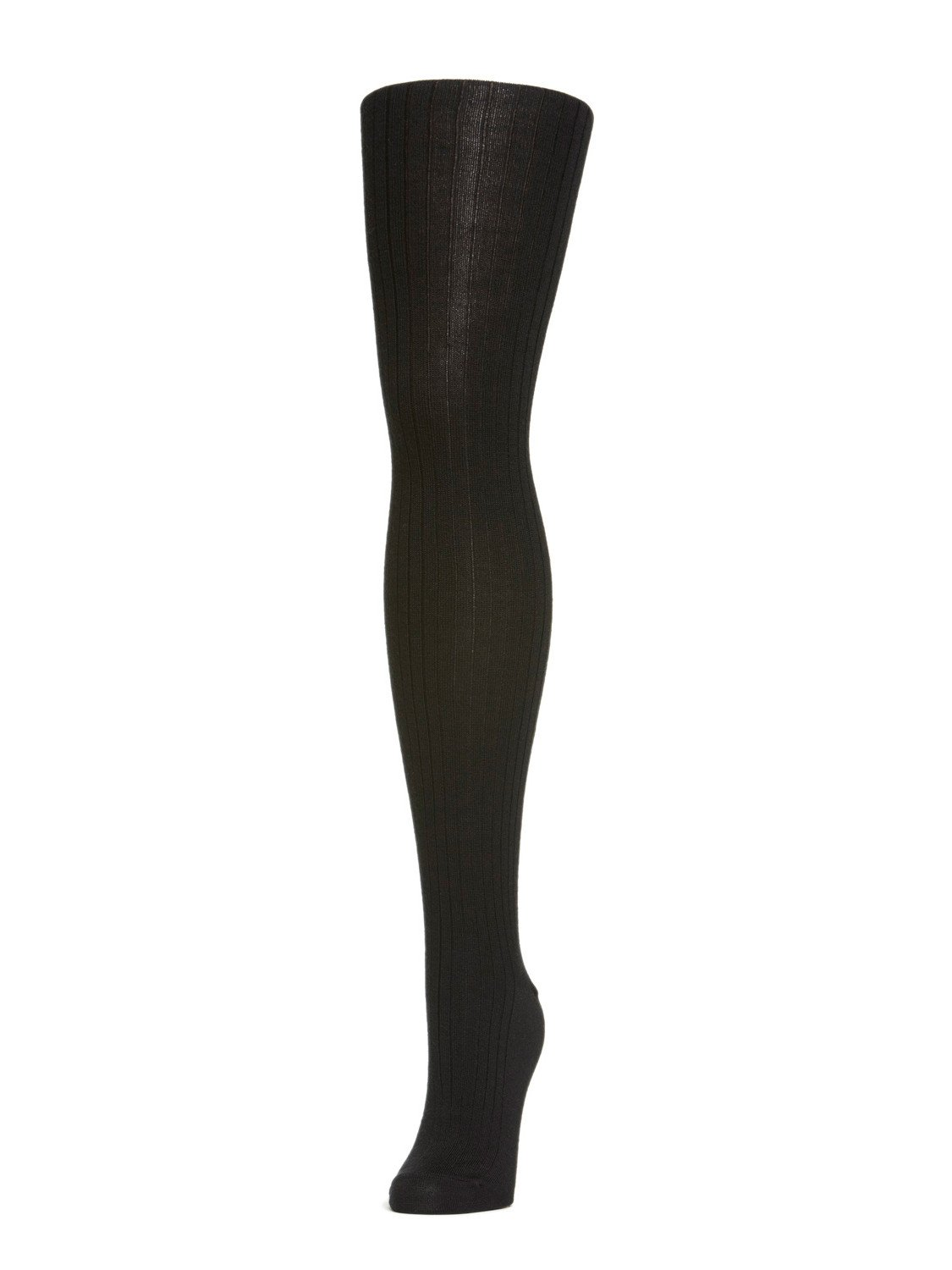 Black Ribbed Tights